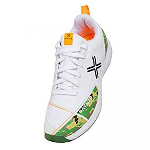 Payntr X Batting Rubber Spikes White Cricket Shoes Camo