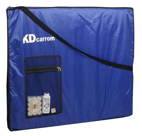 KD Carrom Board Cover Champion Board Quality Cover with Extra Pocket for Coins, Striker & Powder