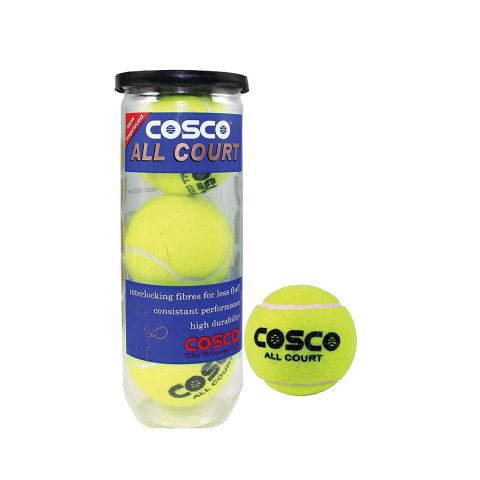 Cosco All Court Tennis Ball,( Pack of 3)