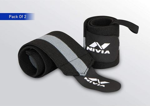 Nivia 11041 Cotton Thumb Wrist Support ( Pack of 2)