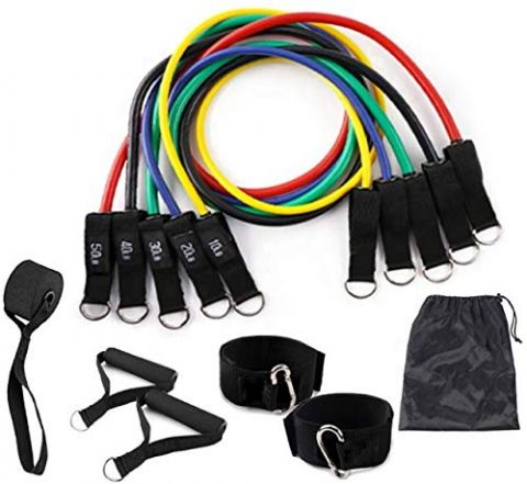 11 in 1 Premium Set Resistance Tube with Handles