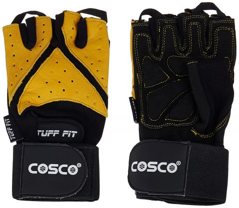 Cosco Tuff Fit Leather Gym Gloves, XL
