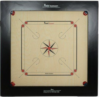Precise Carrom Board Game Ply Wood with Coin, Striker & Powder Approved by Carrom Federation of India & International Carrom Federation (Jumbo ,28mm)