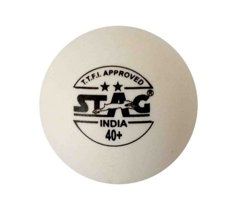 Stag Two Star Plastic Table Tennis Ball, 40mm Pack of 6